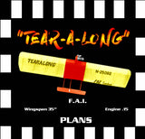 "Full Size Printed Plan & Building Notes  F.A.I. COMBAT  ""TEAR - A - LONG"" Wingspan 35""  Engine .15"