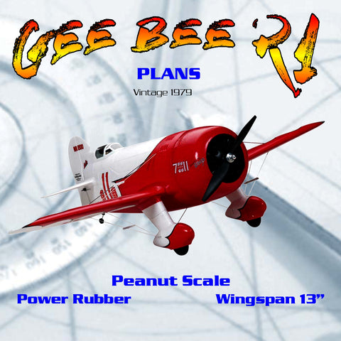 "Full size printed plans Peanut Scale Gee Bee R1  symbol of the ""Golden Age"""