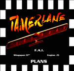 "Full Size Printed Plan & Building Notes combat FAI style **TAMERLANE** W/S 37""  Engine .15"