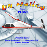 Full Size Printed Plan Peanut Scale based on the Bell-Hughy 'Cobra' Un Helico