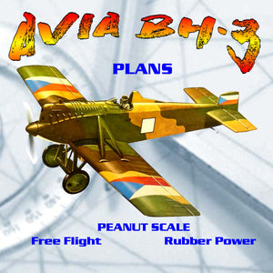 Full Size Printed Peanut Scale Plans AVIA BH·3 the Avia flies fine, it's not an airplane I'd recommend for a rank beginner