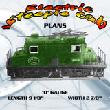 FULL SIZE PRINTED PLANS vintage plans Model Rairoad O-Gauge  Electric steeple cab