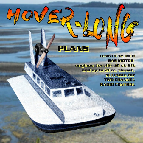 "Full size Printed Plans freelance Hovercraft  Length 32"" SUITABLE for  RADIO CONTRO"
