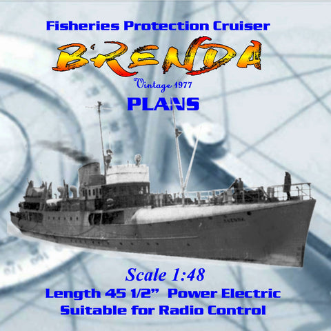 Full Size Printed Plan1:48 Scale fishery protection suitable for radio control