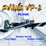Full Size Printed Peanut Scale Plans EVANS VP-2 within the capability of near beginners.
