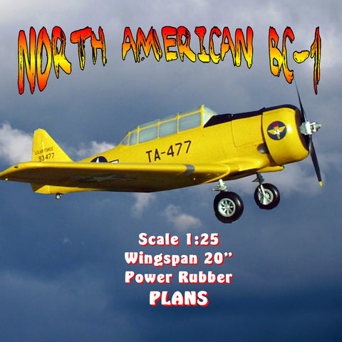 Full size printed plan NORTH AMERICAN BC-1