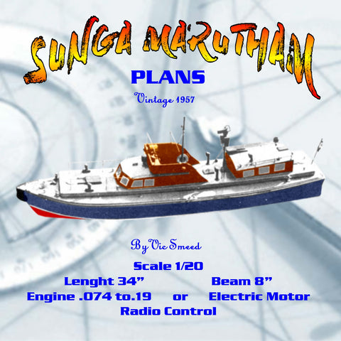 Full Size Printed Plan Scale SUNGA MARUTHAM Patrol Boat Customs and Excise ship