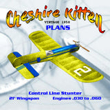 This is for Printed Plans VINTAGE 1958 Control Line Stunter Cheshire Kitten Engines .030 to .060