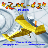 "Full size printed plans  Peanut Scale "" R.M.-12""  it flies quite well."