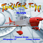 "Full size printed plans Peanut Scale ""TURNER T-40"" makes up into a very nice mode"