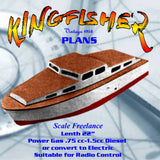 "Full Size Printed Plans cabin cruiser Boating for Beginners' KINGFISHER  L 22"" Suitable for Radio Control"