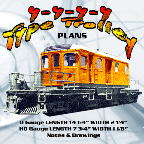 FULL SIZE PLANS Vintage 1940 Model Railroad HO & O gauge 4-4-4-4 TROLLEY