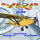 "Full size printed plans Peanut Scale ""VIRI"" quaint little single-seater from the 1930s"
