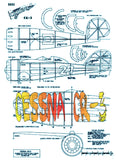 Full Size Printed Plans CESSNA CR-3 Scale 1:10  Power Rubber