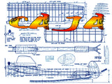 Full Size Printed Plan Vintage  1959 1/2A Free-Flight CA JA Hello VTO and bye-bye pylon