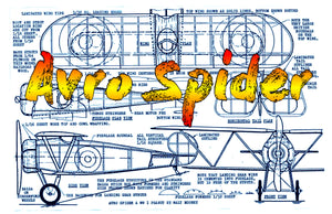 Full Size Printed Peanut Scale Plans Avro Spider rubber or CO2-powered and a snap to build.