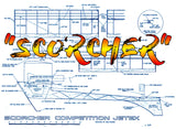 "Full Size Printed Plan Competition Jetex aircraft ""SCORCHER""Jetex 150 with Augmenter Tube or Ducted Fan"