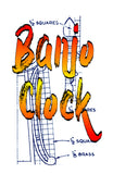 Printed Plans MAKE YOUR OWN  Banjo  Clock  Make it from Walnut and Brass Length 31
