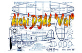 "Full Size Printed Plans Peanut Scale Aichi D3A1 ""Val"" colourful Japanese military aircraft from the earliest days of WW-II"
