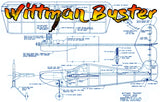 "Full Size Printed Plan Goodyear profile racer Control Line ""Wittman Buster ""  sure winner"