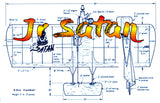 "Printed Plans Vintage 1964 Jr Satan  by Carl Goldberg  Control Line Combat  W/S 29""  Eng .15"