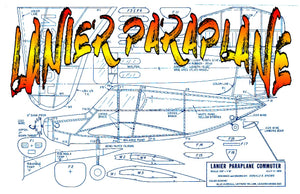 Full size printed plans Peanut Scale LANIER PARAPLANE most unusual Peanut Scale model