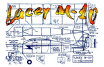 "Full size printed plans Peanut Scale ""Lacey M-10"" It may be ugly, but it sure do fly."