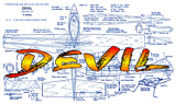 Full Size Printed Plans 1960 CONTROL LINE SPEED  DEVIL Most successful F.A.I.