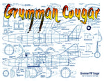"Full Size Printed Plan Free flight  1/2 A Ducted Fan  ""Grumman Cougar"" or try newer electric ducted fans"