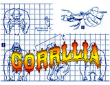 "Full Size Printed Plans GORILLA For Your Model Circus Scale 3/4"" = 1'  HEIGHT 3 3/4""  WIDTH 2 1/2"