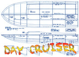 "FULL SIZE PLANS L 36""  GAS .40 Different Deep Vee rracing boat DAY CRUISER"