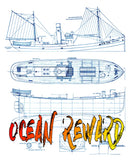 Model-Boat-Full-Size-Printed-Plans-1-32-Scale-Fishing-Trawler-Ocean-Reward-for R-C