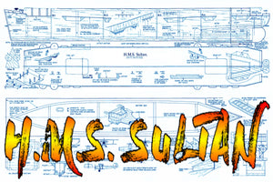 "Full Size Printed Plans semi-scale 1:168 escort carrier  L 35""Suitable for Radio Control"