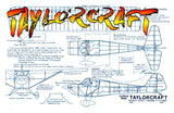 "Full size printed plans Peanut Scale ""TAYLORCRAFT"" compete with the Laceys and Fikes"
