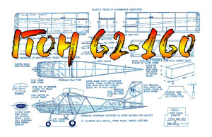 Full size printed plans Peanut Scale ITOH 62-160 1960's Japanese light plane