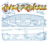 "Full Size Printed Plan build a River Launch 1:12 Scale 24"" River princess for radio control"