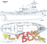 Full Size Printed plans Scale 1/32  L 37 in  Tug Suitable for radio control