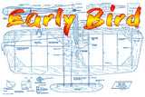 "Full Size Printed Plan & Building Notes  Combat Model *Early Bird* Wingspan 28 1/2""  Engines .15"