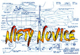 "Full Size Printed Plan Profile  Control Line Trainer ""NIFTY NOVICE"" easy to build­"