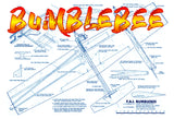 "Full Size Printed Plan & Building Notes FAI combat ship *BUMBLEBEE* Wingspan 44 1/2""  Engine .15"