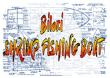 "Full Size PLANS  Shrimp Biloxi Fishing Boat Scale 1/2""=1'  Length 32"" suitable for Radio Control"