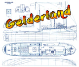 Full Size Printed Plans  Scale 1/48 Dutch ocean-going tugs Gelderland Suitable for Radio Control