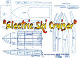 "Full Size Printed Plan  L 22"" B 8"" ENGINE ELECTRIC ""05 Ski Cruiser"" for RADIO CONTROL"
