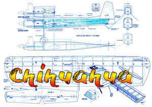 Full Size Printed Plans vintage 1964 Control Line Stunter Chihuahua straight forward construction