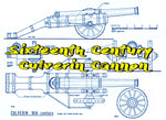 "Full size Printed Plans  Sixteenth Century Culverin Cannon Scale 1:12  Length 17 1/2""  Width 7"""