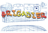 "Full Size Printed Plan sScale 1:32  L 41 1/4"" Brigadier Tug Electric or Steam  Suitable for Radio Control"