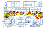 "Full size printed plans Peanut Scale ""WACO SRE"""