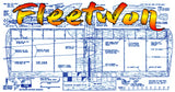 "Full Size Printed Plan vintage 1960 Control Line Combat ""Fleetwon"" simple, easily built, low in cost,"