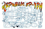 "Full size printed plans Peanut Scale ""REPUBLIC XP-47H"" ranks with the best both in looks and performance"