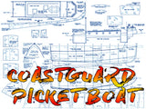 Full Size Printed PLANS Scale 1:16 U.S.C.G. COASTGUARD PICKET BOAT She's big, beautiful and perfect for radio control